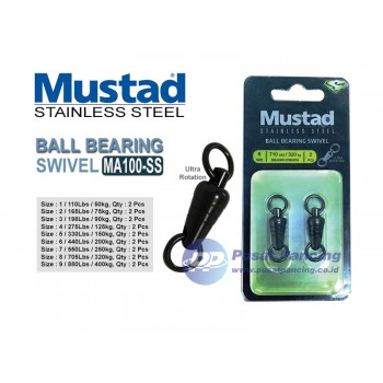 Mustad Ball Bearing Swivel SS MA100-SS