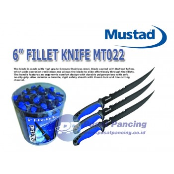 "Pisau Mustad 6"" Fillet Knife MT022"