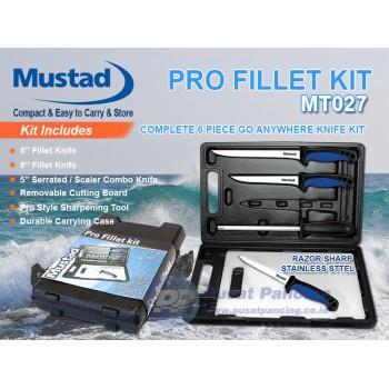 Pisat Set Mustad Pro Fillet Knife Kit MT027
