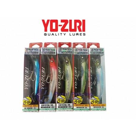 Umpan Sinking Yozuri Crystal Minnow 3D