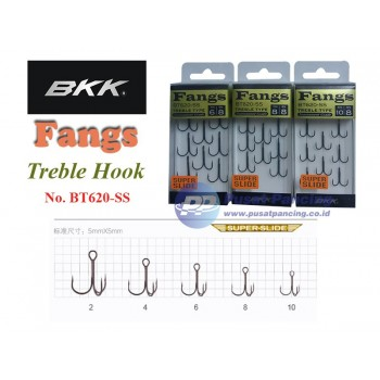 BKK Fangs Treble Hook BT620-SS