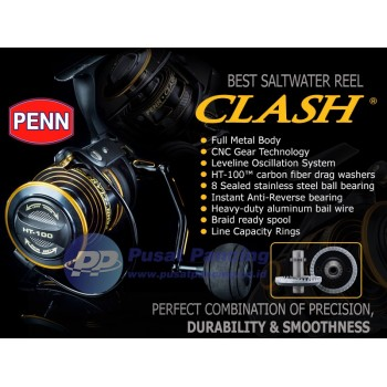 Reel Spinning Saltwater Penn Clash