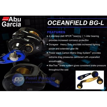 Reel Baitcasting Abu Garcia Oceanfield BG Left Handle