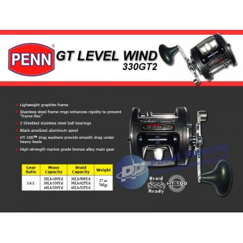 Reel Trolling Konvensional Penn GT Level Wind 330GT2