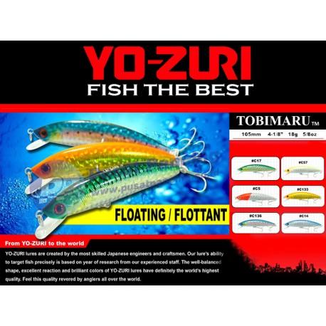 Umpan Mancing Casting Minnow Floating Yozuri Tobimaru