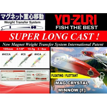 Umpan Casting Yozuri MAG Crystal Minnow Floating