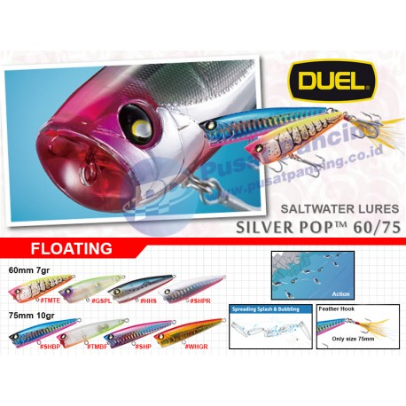 Umpan Saltwater Mini Popper Floating Duel Silver Pop