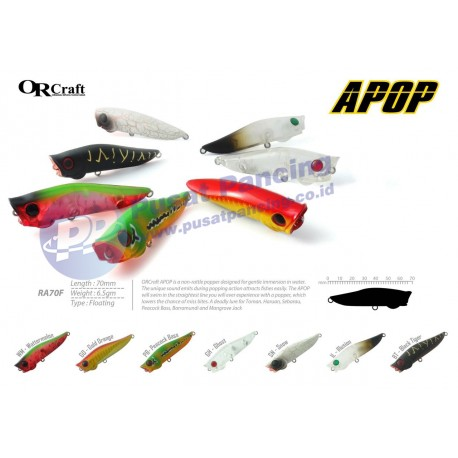 Umpan Mini Popper Ultra Light Mancing Casting ORCraft Apop