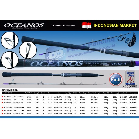 Joran Spinning Mancing Casting Laut RodFord Oceanos Stage II