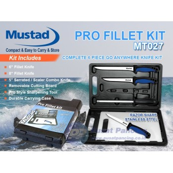 Pisat Set Mustad Pro Fillet Knife Kit MT027