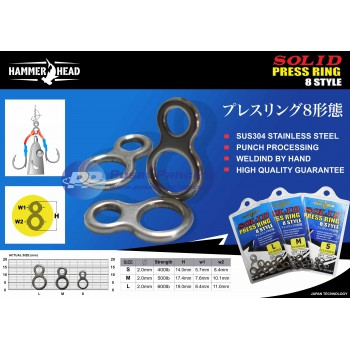 Solid Ring Hammer Head 8 Style