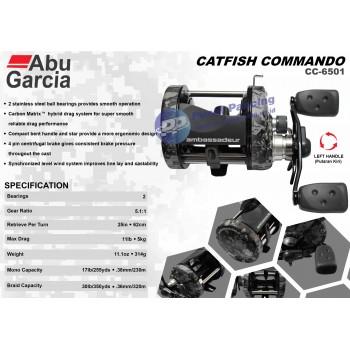 Reel OH Abu Garcia AMB Catfish Commando Cast AMBCC 6501