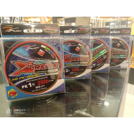 Senar Team Kamikaze XTREME DEEP X8 PE Braid Multi 600Yd